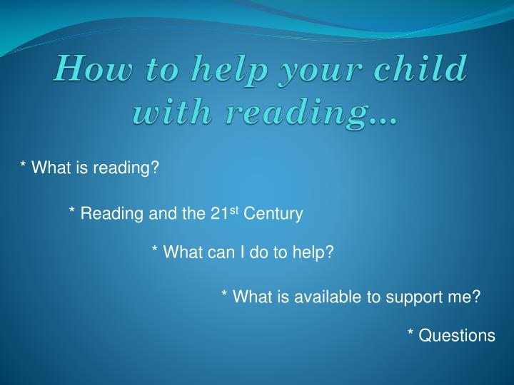How to help your child with reading