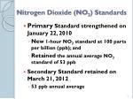nitrogen dioxide no 2 standards