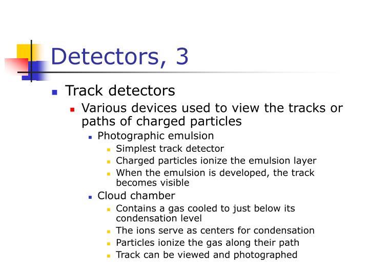 Detectors, 3