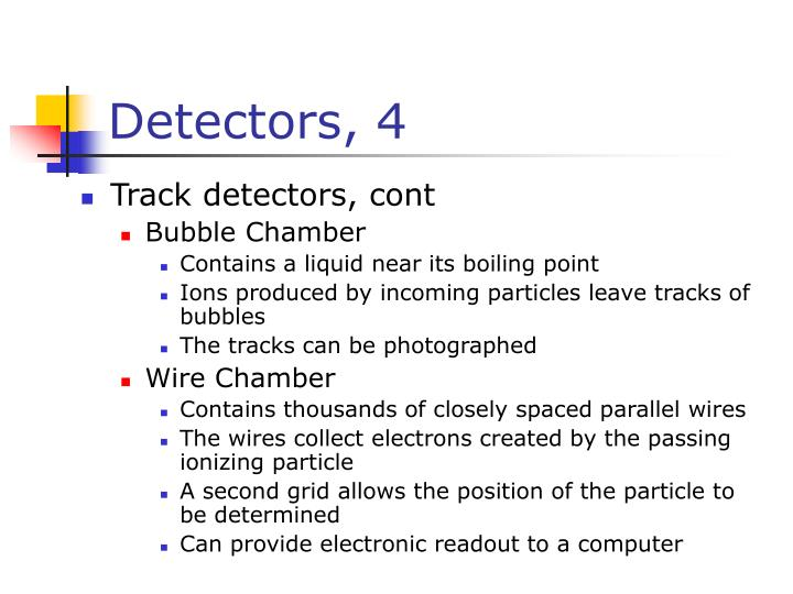 Detectors, 4