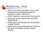 milestones final