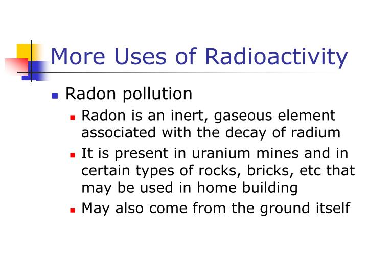 More Uses of Radioactivity