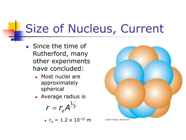Size of Nucleus, Current