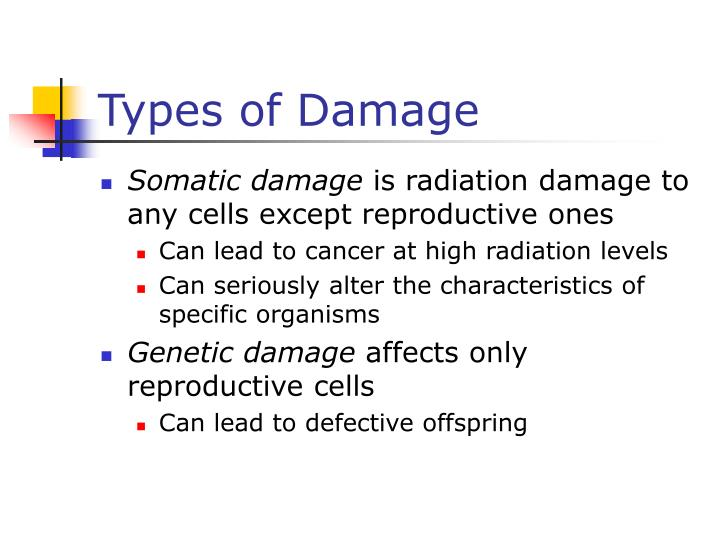 Types of Damage