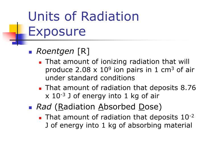 Units of Radiation Exposure
