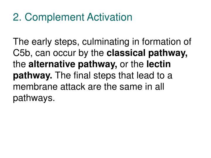 2. Complement Activation
