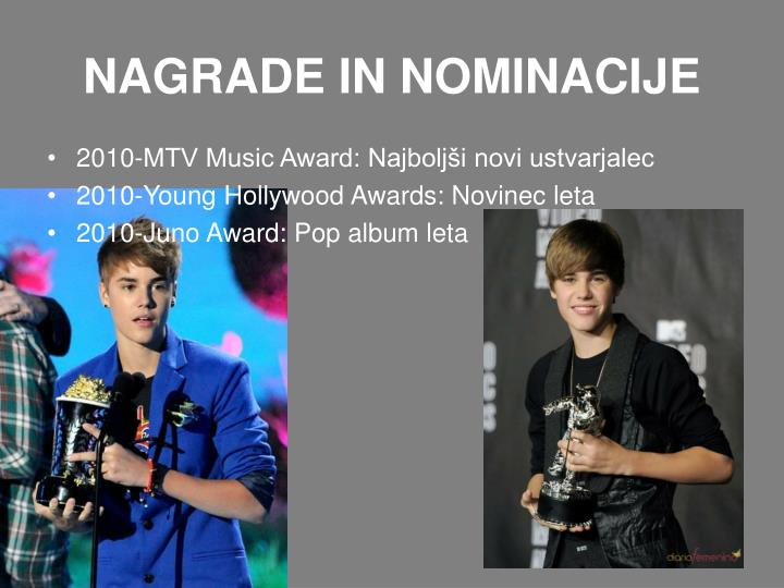 NAGRADE IN NOMINACIJE