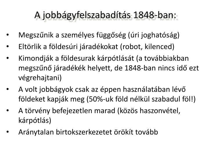 A jobbgyfelszabadts 1848-ban: