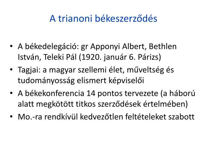 A trianoni bkeszerzds