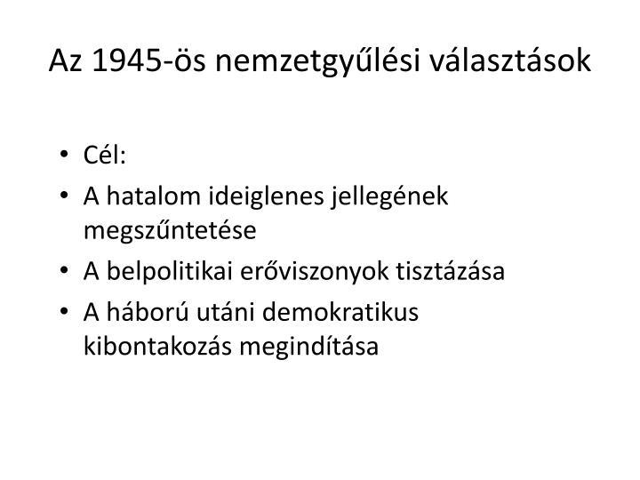 Az 1945-s nemzetgylsi vlasztsok