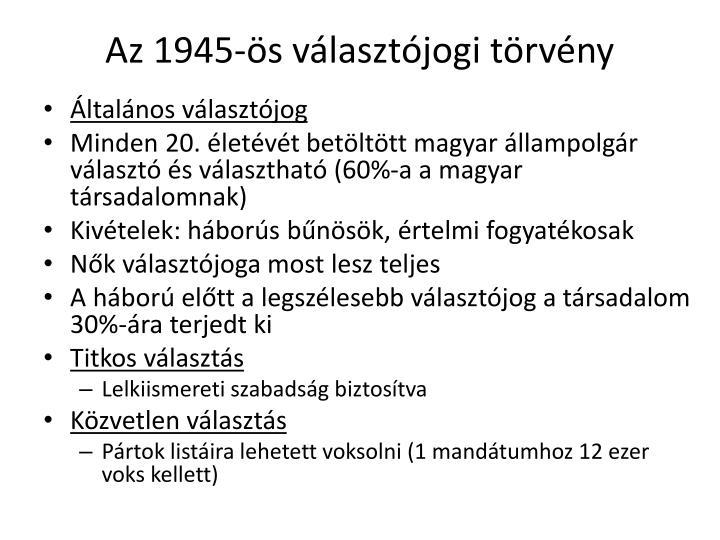 Az 1945-s vlasztjogi trvny