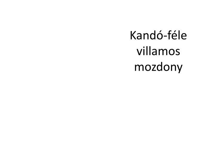 Kand-fle villamos mozdony