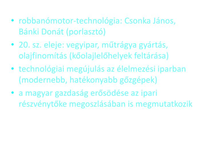 robbanmotor-technolgia: Csonka Jnos, Bnki Dont (porlaszt)