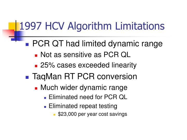 1997 HCV Algorithm Limitations