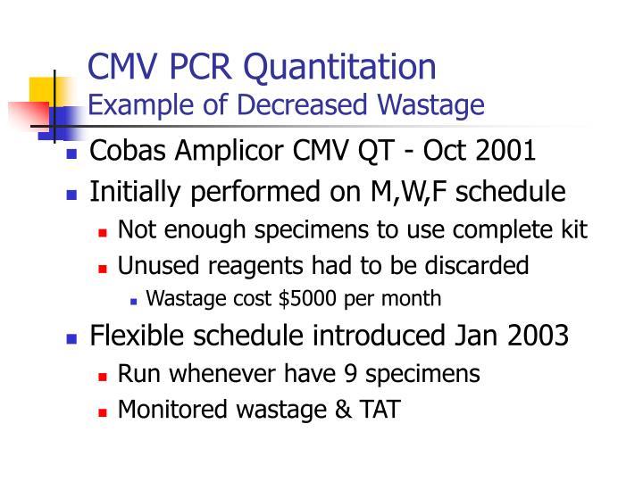 CMV PCR Quantitation