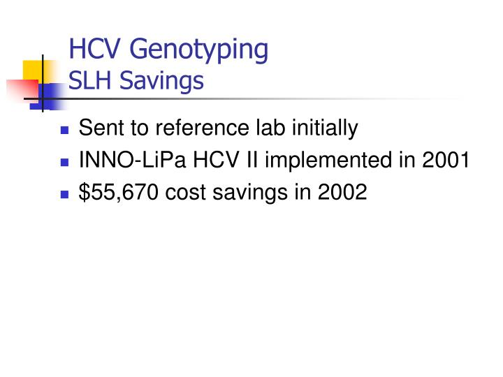 HCV Genotyping