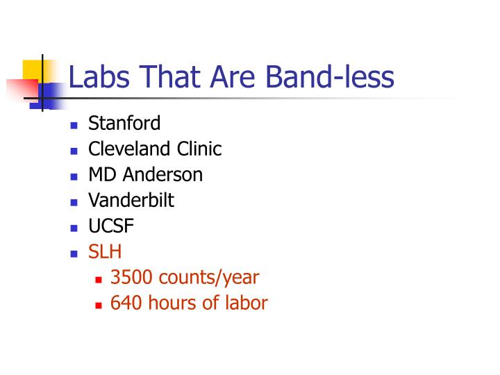 Labs That Are Band-less
