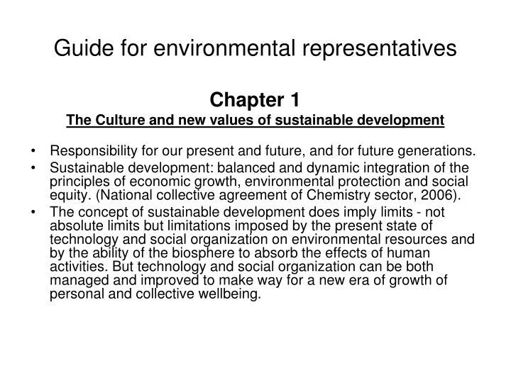Guide for environmental representatives