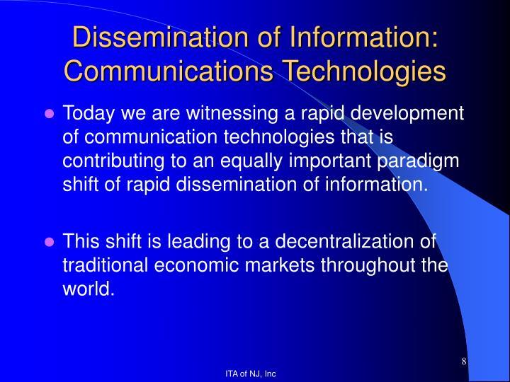 Dissemination of Information: