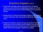 economic impacts con t2