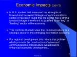 economic impacts con t4