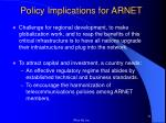 policy implications for arnet