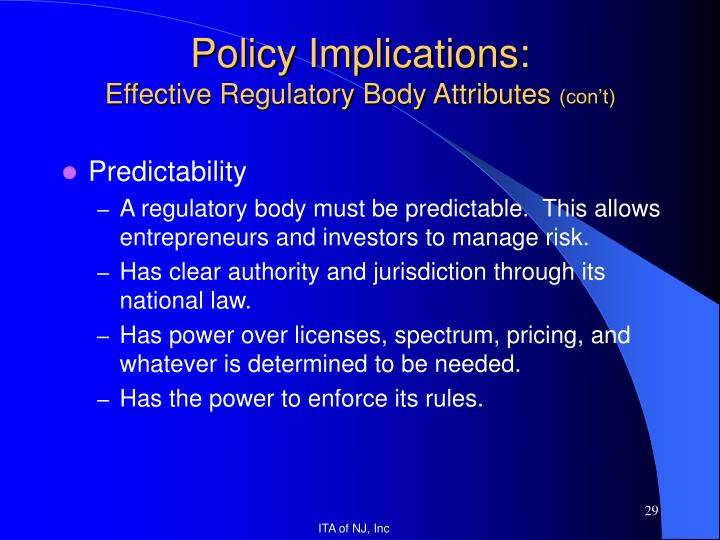 Policy Implications: