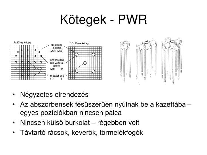 Kötegek - PWR