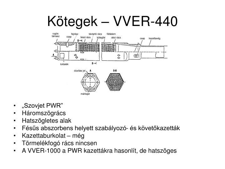 Kötegek – VVER-440