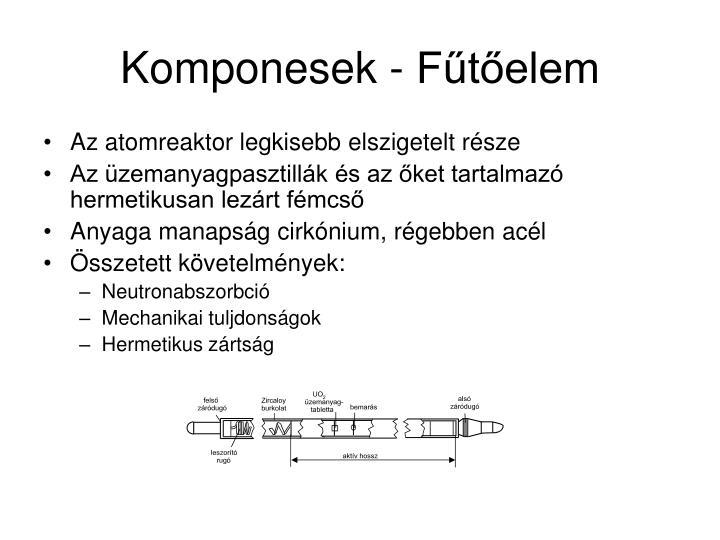Komponesek - Fűtőelem