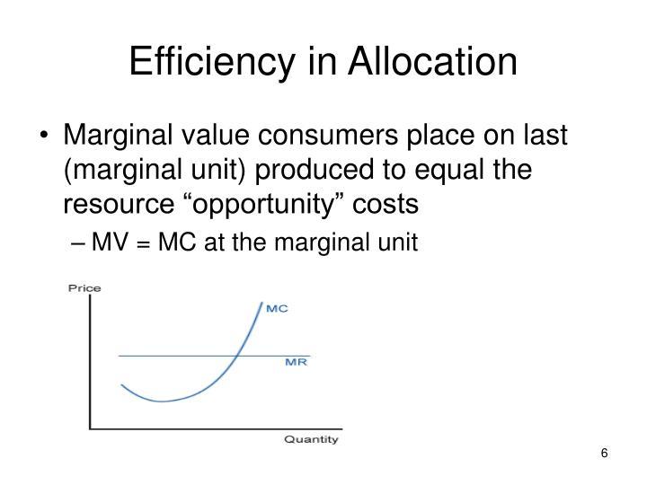 Efficiency in Allocation