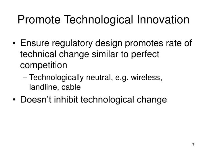 Promote Technological Innovation