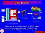 dsl in 2001