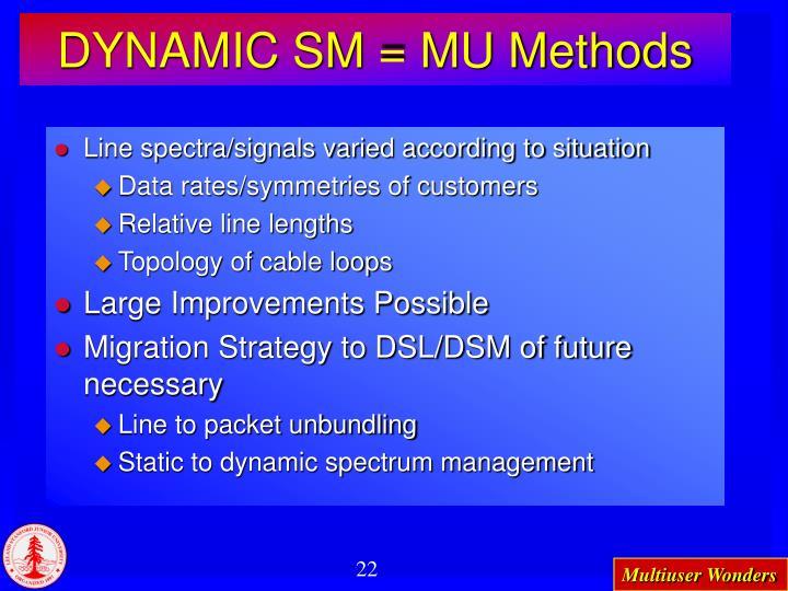 DYNAMIC SM = MU Methods