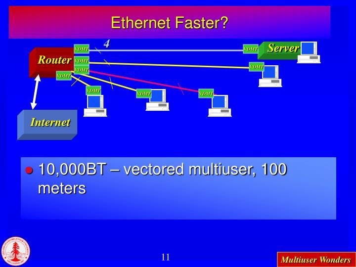 Ethernet Faster?