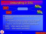 unbundling in dsl