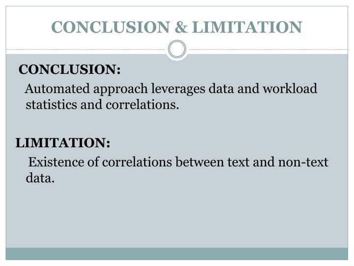 CONCLUSION & LIMITATION