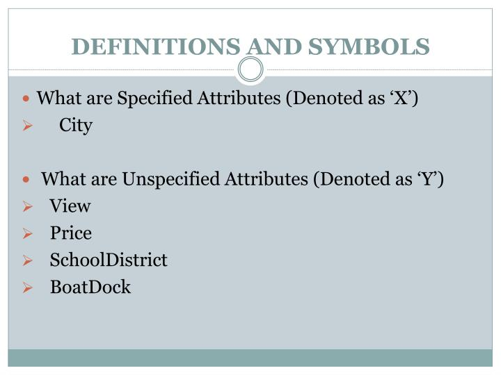 DEFINITIONS AND SYMBOLS