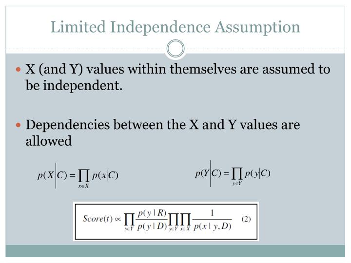 Limited Independence Assumption