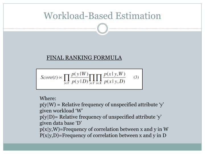 Workload-Based Estimation