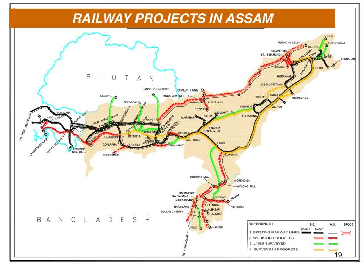 RAILWAY PROJECTS IN ASSAM