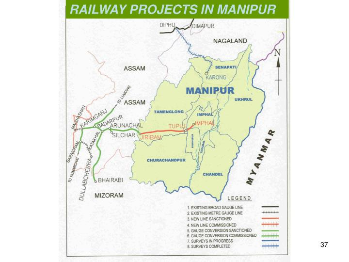 RAILWAY PROJECTS IN MANIPUR