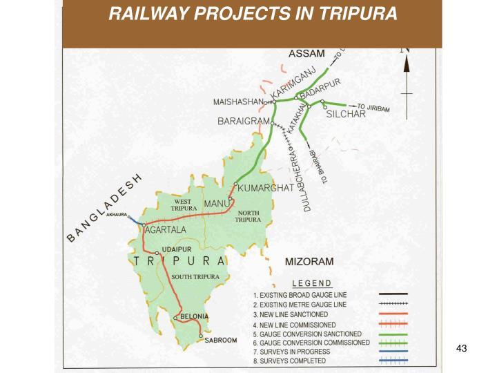 RAILWAY PROJECTS IN TRIPURA
