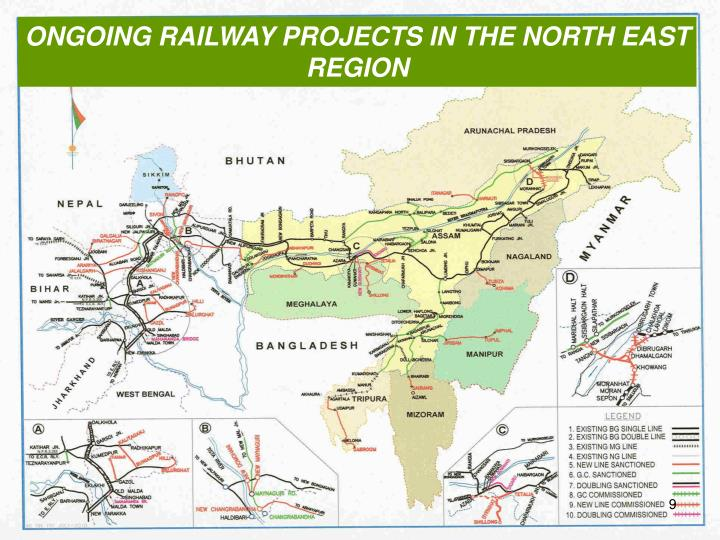 ONGOING RAILWAY PROJECTS IN THE NORTH EAST REGION