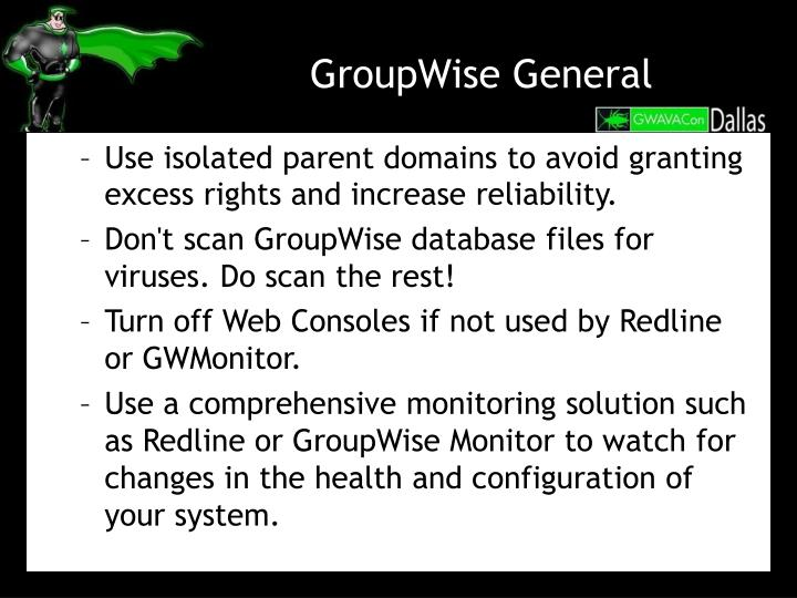 GroupWise General