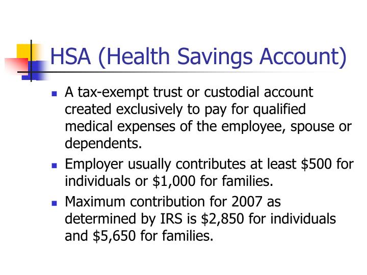 HSA (Health Savings Account)