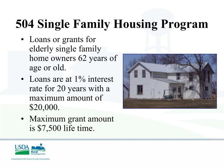 504 Single Family Housing Program