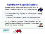 community facilities grants