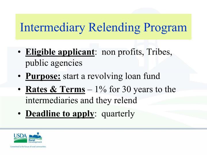 Intermediary Relending Program