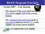 re ee program overview